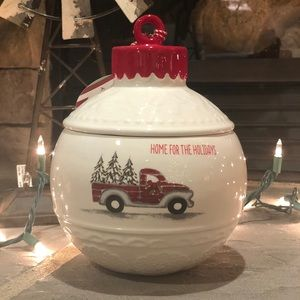 🆕 HOME FOR THE HOLIDAYS Ornament Canister